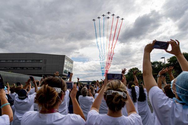 La tournée d'hommage de la Patrouille de France a démarré le 15 juillet en Ile-de-France