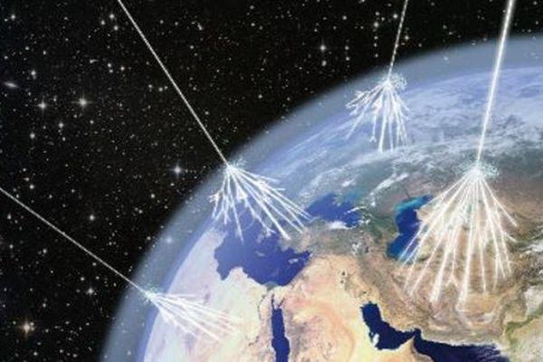 """""""La terre est bombardée de muons en permanence"""", explique le chercheur. Mesurer ces muons s'appelle la muographie"""