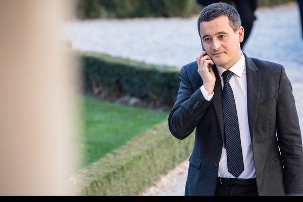 Gérald Darmanin à la sortie de l'Assemblée Nationale.