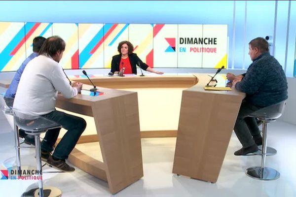 Les représentants des listes FDSEA 87, Coordination rurale 87, Confédération paysanne 87 et Modef 23 ont débattu sur le plateau de France 3 Limousin