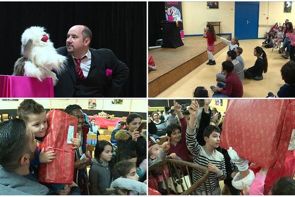 Un moment festif pour les enfants, les parents et aussi les bénévoles de Caritas