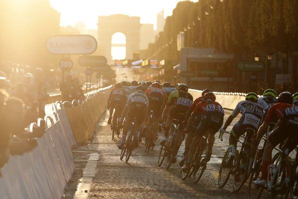 Arrivée du Tour de France 2020 prévue le 20 septembre sur les Champs-Elysées. Image d'archive.