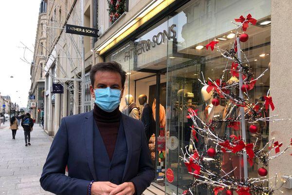 Sébastien Duchowicz, président de l'association de commerçants « Les vitrines de Nancy ».