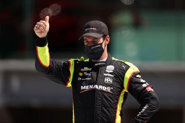 Simon Pagenaud au départ de la 104e édition des 500 miles d'Indianapolis, dimanche 23 août 2020. Le pilote est parti en 25e position, et a terminé 22e.