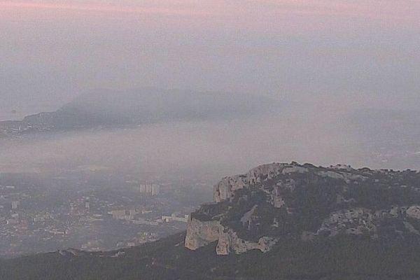 Incendie sur la montagne entre Toulon et Ollioules. Septembre 2018