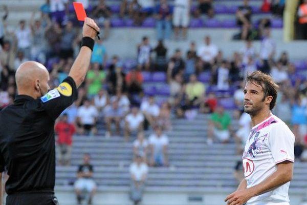 Marc Planus a écopé d'un carton rouge à la 28' minute de jeu contre Toulouse le 17 août dernier.