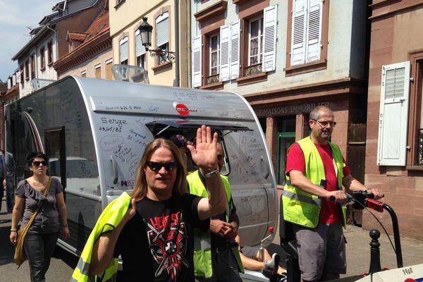 La dernière caravane défile dans les rues de Wissembourg