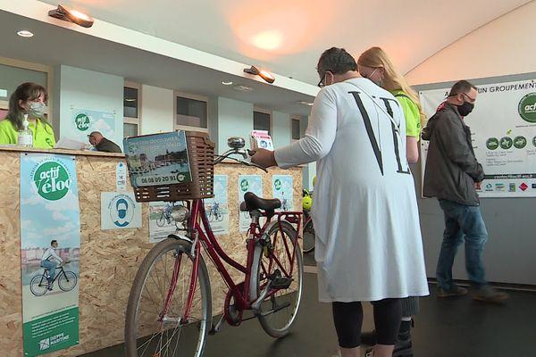 Juillet 2021 : un service estival de location de vélos a ouvert à la gare de Dieppe