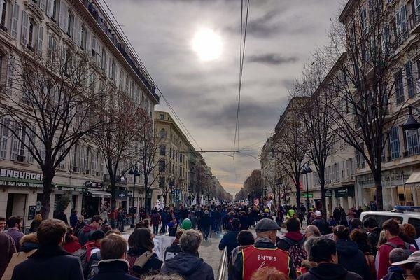 Manifestation contre la réforme des retraites à Nice ce 6 février