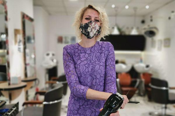 Jessica Aulard tient son salon de coiffure à Auxerre depuis 2016