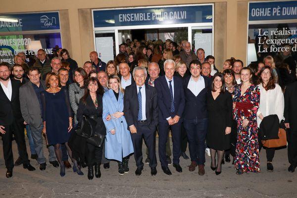 """Avec """"Ensemble pour Calvi, Oghje pè Dumane"""" le maire de Calvi Ange Santini brigue un cinquième mandat à la tête de la commune la plus peuplée de Balagne. Jeudi, il inaugurait sa permanence et présentait ses colistiers."""