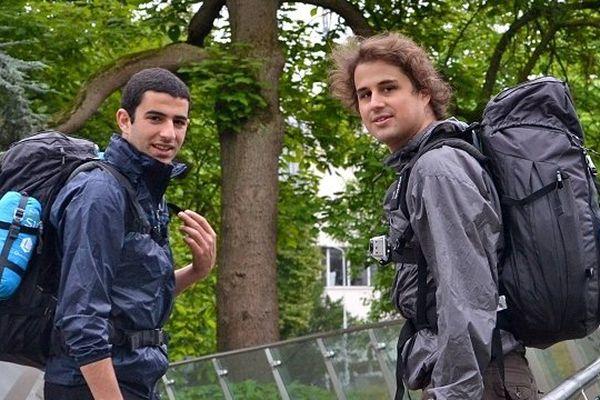Oussama et Jean-Christophe lors de leur périple 2013