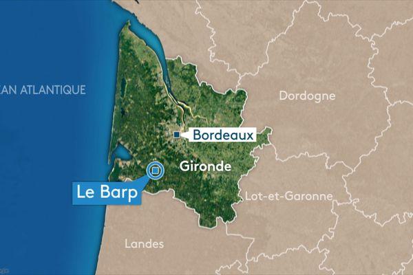 Un corps a été retrouvé dans une voiture calcinée dans la forêt du Barp, ce jeudi 4 mars.
