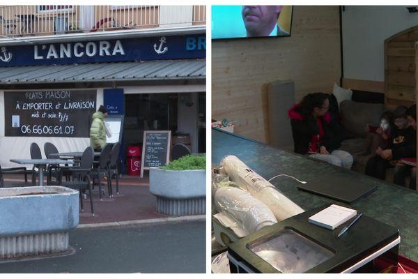Le restaurant de Jessica et Stéphane, à Agde, où le couple s'est installé avec ses deux enfants.