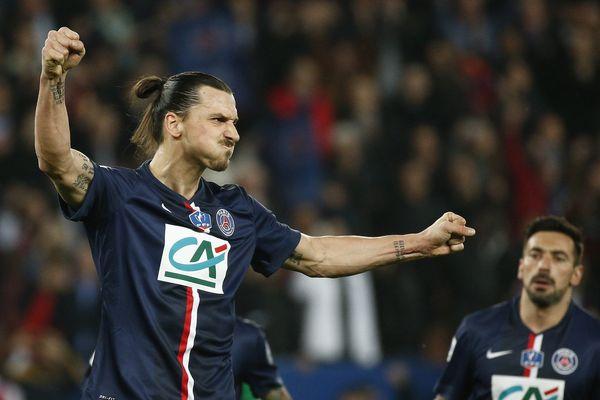 Zlatan Ibrahimovic auteur d'un triplé face à Saint-Etienne en 1/2 finale de la Coupe de France.