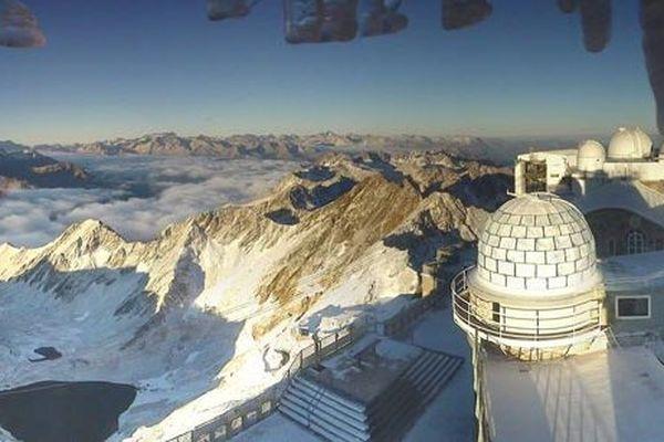 Pic du Midi de Bigorre, premières neiges ce vendredi 11 octobre 2013