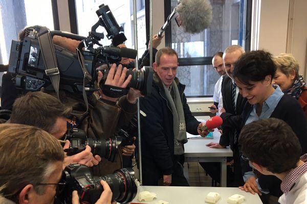 Najat Vallaud-Belkacem au lycée Jules Haag de Besançon