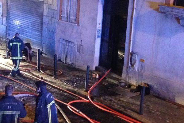 L'incendie a pris dans un petit immeuble de la rue du Maroc