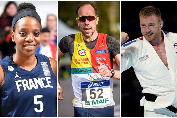 La Rémoise Endy Miyem, le Sparnacien Yohann Diniz et le Haut-Marnais Axel Clerget espèrent décrocher une médaille olympique.