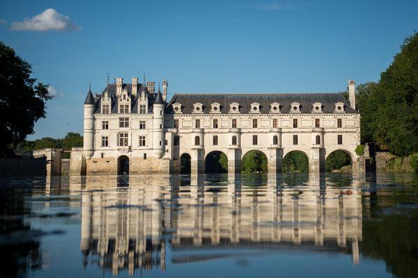 Le château de Chenonceau, dans la vallée du Cher.