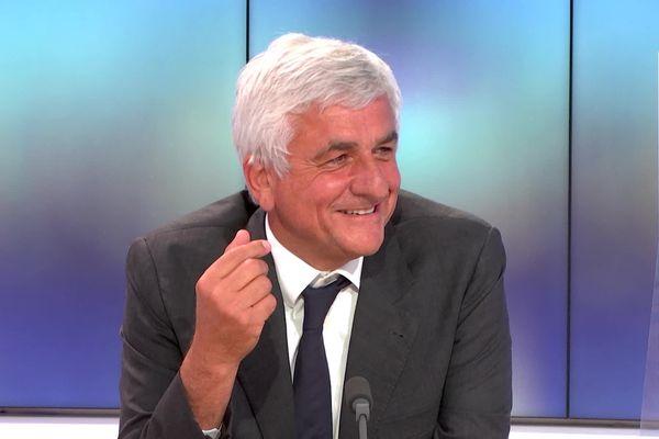 Hervé Morin le soir du second tour des élections régionales 2021 en direct sur le plateau de France 3 Normandie