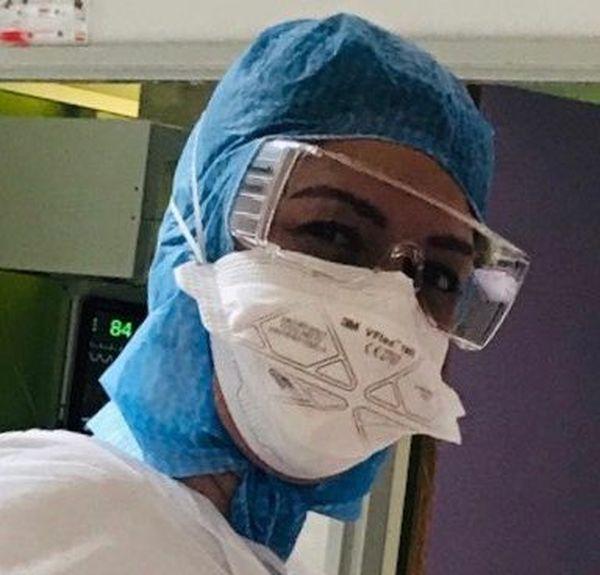 Déborah Miarlet affronte l'épidémie de Covid-19 depuis début mars à l'hôpital d'Abbeville.
