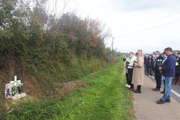 La famille de Kévin, a organisé une marche blanche un an après l'accident qui lui a coûté la vie - 25 octobre 2020