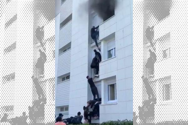 Des jeunes du quartier Bottière ont formé une chaîne humaine pour sauver un bébé et sa famille d'un incendie