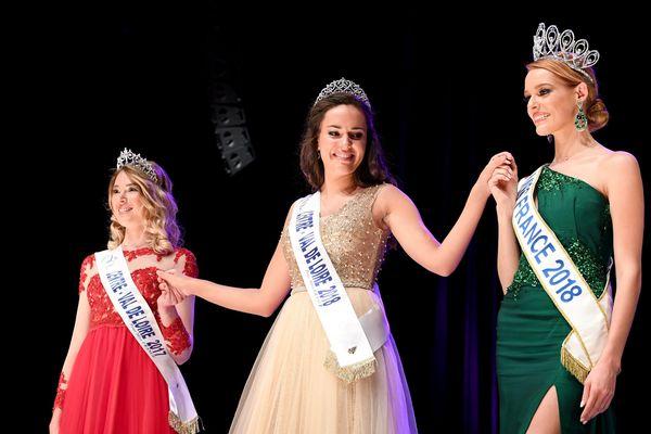 Election de Miss Centre-Val de Loire au Mach 36 de Déols, Châteauroux, Indre, le 15-09-18.  Laurie Derouard, miss Centre-Val de Loire 2018, Maëva Coucke, miss France 2018