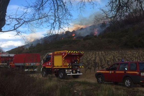 Image d'archives d'un incendie à Fontès (Hérault)