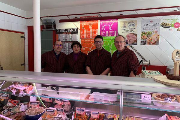 L'équipe de la boucherie Saint-Laurent, à Nogent-sur-Seine.
