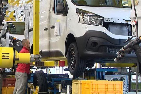 Le site Renault de Sandouville (Seine-Maritime) produit aussi des véhicules pour Opel et Fiat.