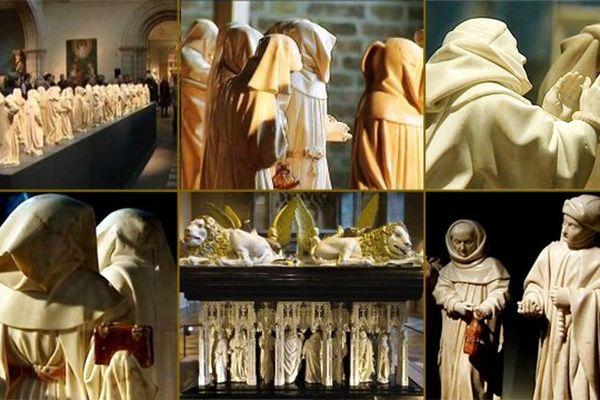 Les statuettes qui ornent le tombeau des ducs de Bourgogne ont effectué un périple international qui a duré 3 ans, de 2010 à 2013.