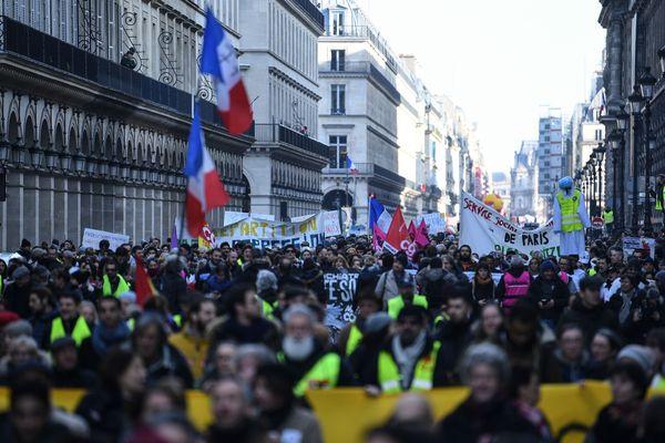 Le 11 février dernier, de 18.000 à 30.000 personnes avaient manifesté dans les rues de Paris à l'appel de la CGT.