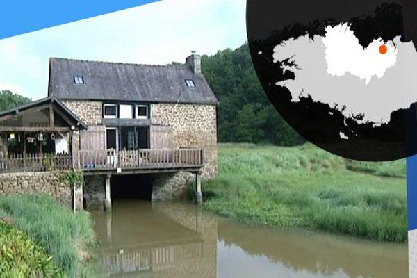 La demeure abritant le moulin à marée