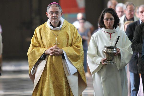 Mgr Jean-Luc Bouilleret lorsqu'il était évêque d'Amiens