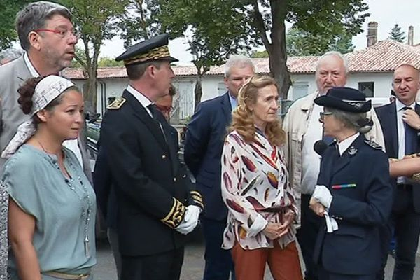 Nicole Belloubet en visite à Saint-Martin-de-Ré