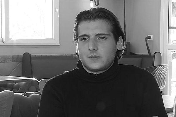 Kevin, 26 ans, militant du mouvement En Marche! d'Emmanuel Macron