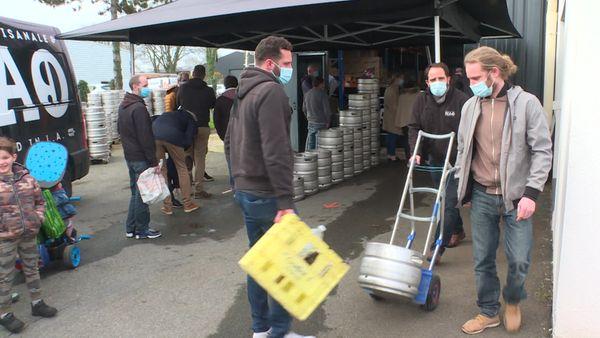 les particuliers sont venus en nombre à la brasserie Nao à Saint-Lyphard en Loire-Atlantique