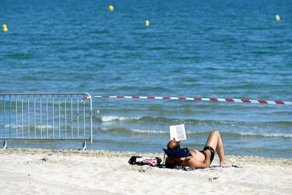 Baignade interdite à Ajaccio sur la plage en face de Résidence des îles (Archives)
