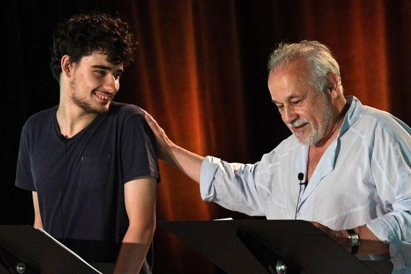 Louis et Francis Perrin lors des répétitions le 19 juin.