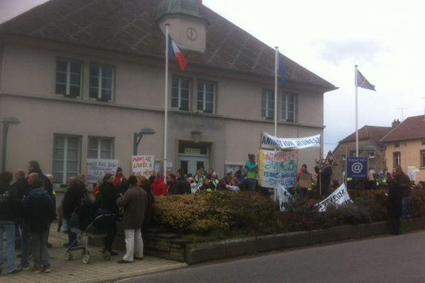 300 personnes s'étaient rassemblés hier à Saulx-de-Vesoul (Haute-Saône)
