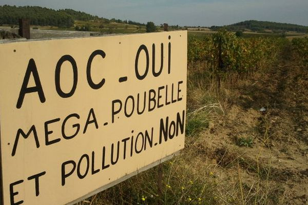 Lassac (Aude) - site du projet de centre d'enfouissement technique - octobre 2012