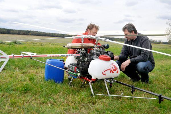 En Suisse, les agriculteurs utilisent des drones pour combattre la prolifération des chenilles processionnaires