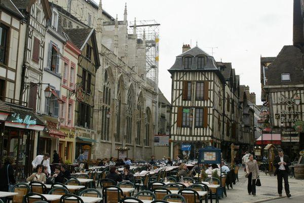 Le centre ville de Troyes