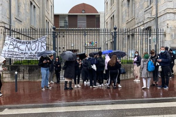 Lycée Condé à Besançon, le 6 mai 2021.