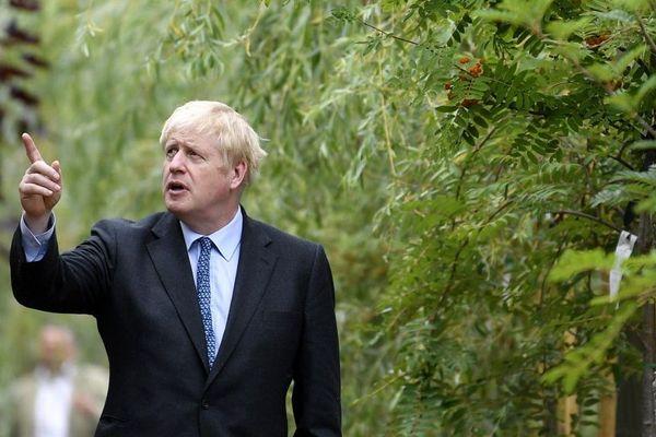 Boris Johnson en campagne ce samedi.