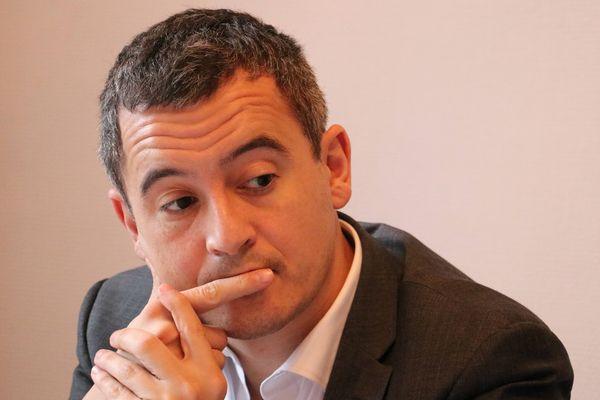 Gérald Darmanin, candidat tête de liste à l'élection municipale de Tourcoing.