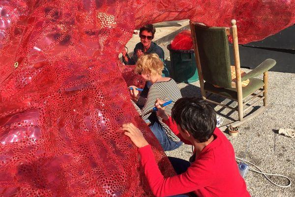 Atelier d'artistes en plein air au 109 à Nice.