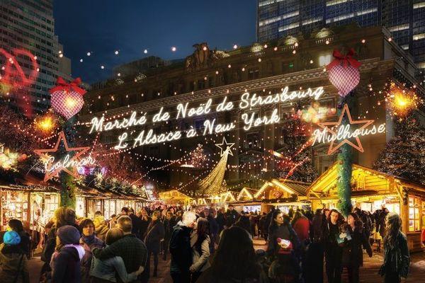 Le marché de noël d'Alsace s'installera du 6 au 22 décembre à New-York